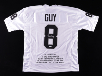 Ray Guy Signed Career Highlight Stat Jersey (JSA COA) at PristineAuction.com