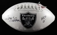 "Tom Flores Signed Raiders Logo Football Inscribed ""HOF 21"" (JSA COA) at PristineAuction.com"