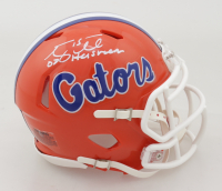 "Tim Tebow Signed Florida Gators Speed Mini Helmet Inscribed ""07 Heisman"" (Tebow COA) at PristineAuction.com"
