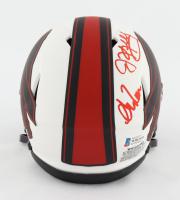 Andre Reed, Thurman Thomas, & Jim Kelly Signed Bills Lunar Eclipse Alternate Speed Mini Helmet (Beckett COA) at PristineAuction.com