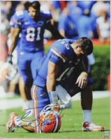 """Tim Tebow Signed Forida Gators 16x20 Photo Inscribed """"God Bless"""" (Tebow COA) at PristineAuction.com"""