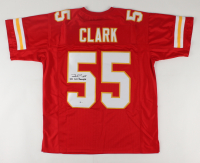 "Frank Clark Signed Jersey Inscribed ""SB LIV Champs"" (Beckett COA) (See Description) at PristineAuction.com"
