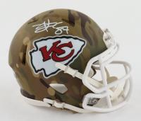 Travis Kelce Signed Chiefs Camo Alternate Speed Mini Helmet (Beckett Hologram) at PristineAuction.com