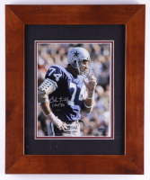 "Bob Lilly Signed Cowboys 14.5x17.5 Custom Framed Photo Display Inscribed ""HOF '80"" (Schwartz Sports Hologram) (See Description) at PristineAuction.com"