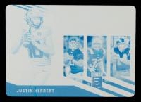 Justin Herbert 2020 Elite Rookies Printing Plates Cyan #5 #1/1 at PristineAuction.com