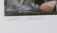 Andrew Goralski Singed LE Brett Favre 18x34 Lithograph (Artist) at PristineAuction.com