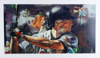 """Stephen Holland Signed Cal Ripken Jr. 19x33 Lithograph Inscribed """"Proof"""" (See Description) at PristineAuction.com"""