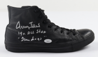 """Jerry West Signed Converse Basketball Shoe Inscribed """"14x All Star"""" & """"The Logo"""" (JSA COA) at PristineAuction.com"""
