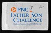 Jack Nicklaus & Arnold Palmer Signed PNC Father Son Challenge Pin Flag (JSA LOA) (See Description) at PristineAuction.com