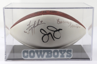 Troy Aikman, Jerry Jones & Barry Switzer Signed NFL Football with Display Case (JSA Hologram) at PristineAuction.com
