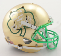 """Rudy Ruettiger Signed Notre Dame Fighting Irish Full-Size Chrome Helmet Inscribed """"Play Like A Champion Today"""" & """"Never Quit"""" (Beckett COA) at PristineAuction.com"""