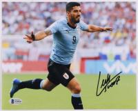 Luis Suarez Signed Team Uruguay 8x10 Photo (Beckett COA) at PristineAuction.com