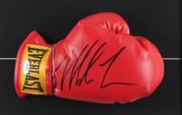 Mike Tyson Signed 16x30 Custom Framed Boxing Glove Display (PSA COA) at PristineAuction.com