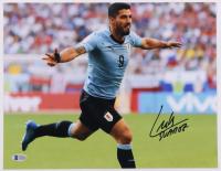 Luis Suarez Signed Team Uruguay 11x14 Photo (Beckett COA) at PristineAuction.com