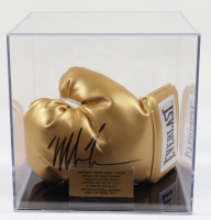 Mike Tyson Signed Everlast Boxing Glove with Wrist Wrap & Display Case (PSA COA) at PristineAuction.com