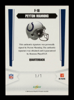 Peyton Manning 2007 Select Franchise #18 #1/1 at PristineAuction.com