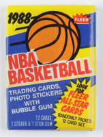 1988 Fleer NBA Basketball Card Wax Pack with (13) Cards at PristineAuction.com
