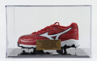 """Pete Rose Signed Baseball Cleat Inscribed """"17x All Star"""" with Display Case (PSA COA) at PristineAuction.com"""