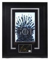 """George R.R. Martin Signed """"Game Of Thrones"""" 18.5x22.5 Custom Framed Cut Display (ACOA COA) (See Description) at PristineAuction.com"""