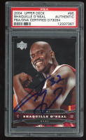 Shaquille O'Neal Signed 2004-05 Upper Deck #95 (PSA Encapsulated) at PristineAuction.com