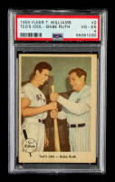 Ted Williams 1959 Fleer #2 Ted's Idol Babe Ruth (PSA 4) at PristineAuction.com