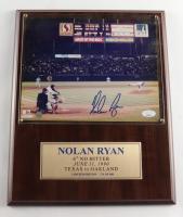 Nolan Ryan Signed LE Rangers 6th No-Hitter 12x15 Wooden Plaque (JSA COA) at PristineAuction.com