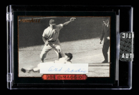 Joe DiMaggio 1993 Pinnacle DiMaggio #23 Fearless Baserunner With Hand-Written Word (Sportscard.com Encapsulated) at PristineAuction.com
