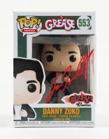 """John Travolta Signed """"Grease"""" #553 Danny Zuko Funko Pop! Vinyl Figure (Beckett COA) (See Description) at PristineAuction.com"""