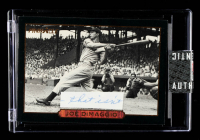 Joe DiMaggio 1993 Pinnacle #9 Classic Swing With Hand-Written Word (SportsCards Encapsulated) at PristineAuction.com