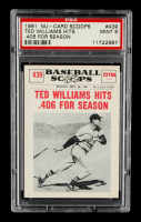 Ted Williams 1961 Nu-Card Scoops #439 Hits .406 (PSA 9) at PristineAuction.com
