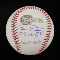 """Luis Vizcaino Signed 2005 World Series Baseball Inscribed """"05 WS Champs"""" (Beckett COA) at PristineAuction.com"""