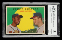 Hank Aaron / Eddie Mathews 1959 Topps #212 Fence Busters (BCCG 8) at PristineAuction.com
