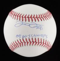 "Frank Thomas Signed OML Baseball Inscribed ""05 WS Champs"" (PSA COA) at PristineAuction.com"
