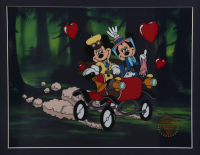 """Walt Disney's LE Mickey & Minnie Mouse """"Nifty Nineties"""" 16x18 Custom Framed Animation Serigraph Cel at PristineAuction.com"""