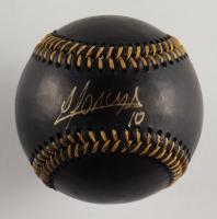 Yoan Moncada Signed OML Black Leather Baseball (Beckett COA) at PristineAuction.com