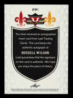 Russell Wilson 2012 Leaf Valiant Draft #RW1 at PristineAuction.com