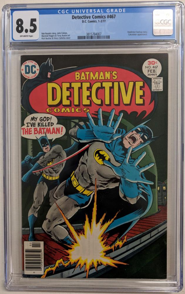 "1977 ""Detective Comics"" Issue #467 DC Comic Book (CGC 8.5) at PristineAuction.com"