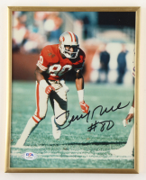 Jerry Rice Signed 49ers 8.5x10.5 Custom Framed Photo (PSA COA) (See Description) at PristineAuction.com