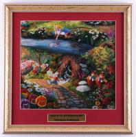 "Thomas Kinkade ""Alice In Wonderland"" 16x16 Custom Framed Print Display (See Description) at PristineAuction.com"
