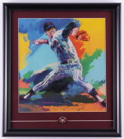 Leroy Neiman Tom Seaver Mets 16x18 Custom Framed Lithograph Display With 1992 Hall of Fame Pin at PristineAuction.com