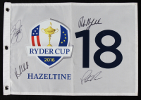 2016 Ryder Cup Golf Pin Flag Signed by (4) with Phil Mickelson, Patrick Reed, Brooks Koepka & Rickie Fowler (JSA ALOA) at PristineAuction.com