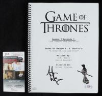 "Aidan Gillen Signed ""Game of Thrones"" Season 7 Episode 7 Movie Script (JSA COA) (See Description) at PristineAuction.com"