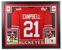 Parris Campbell Signed 35x43 Custom Framed Jersey (JSA COA) (See Description) at PristineAuction.com