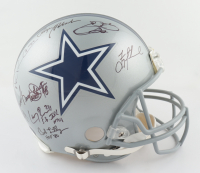 Cowboys Greats Full-Size Authentic On-Field Helmet Signed by (22) with Jimmy Johnson, Bob Lilly, Mel Renfro, Rayfield Wright, Daryl Johnston (Radtke Hologram, Prova Hologram & Aikman Hologram) (See Description) at PristineAuction.com