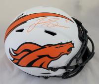 Justin Simmons Signed Broncos Full-Size Lunar Eclipse Alternate Speed Helmet (Radtke COA) at PristineAuction.com