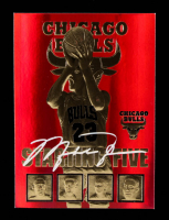 Michael Jordan 1996-97 NBA Hoops 23 KT Gold Card #01799 at PristineAuction.com