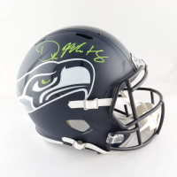 DK Metcalf Signed Seahawks Full-Size Speed Helmet (Beckett COA) (See Description) at PristineAuction.com