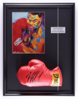 Mike Tyson Signed 17x22 Custom Framed Boxing Glove Display with Leroy Neiman Art Print (PSA COA) (See Description) at PristineAuction.com