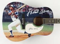 "Hank Aaron Signed Braves 40"" Acoustic Guitar (PSA COA) (See Description) at PristineAuction.com"