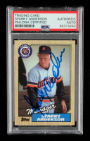 Sparky Anderson Signed 1987 Topps #218 MG (PSA Encapsulated) at PristineAuction.com